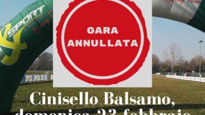 Coronavirus, annullata la gara di Cinisello Balsamo